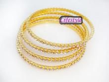 18crt Gold Plating American Diamond Bangles