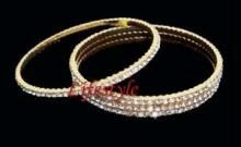 18kt Gold Plating American Diamond Bangles