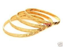 Jewellery Gold Plating Kada Set Of 4