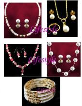 Prices Slashed...4 Pearl Sets With 4 Pearl Kada And Ring