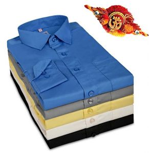 Rakhi Gift Hampers (for Brothers in India) - Rakhi Gifts - Smart Formal Shirt for Your Brother