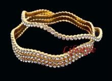 Gold Forming Jewellery Cz Diamond Bangles
