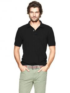 Smart Black Polo Collar T Shirt For Men.....ls55