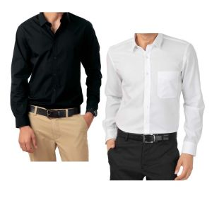 Men's Wear - Buy 1 Black Shirt & Get 1 White Shirt FREE...LSBW1
