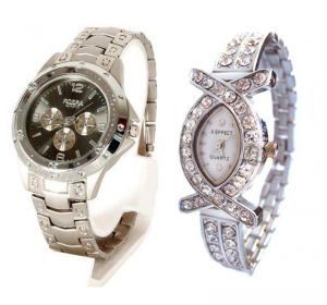 Classy Couple Watch Set Buy 1 Get 1 Free