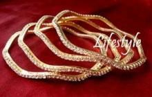 Exclusive....heavy American Diamond Studded Bangles Set Of 4