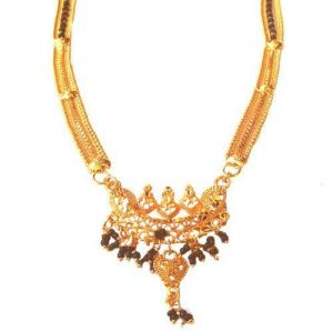 Mangalsutras - Hi Lifestyles Heavy Gold Plated Mangalsutra----gmang1