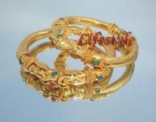 Gold Plated Jewellery Ethnic Kada (pair)