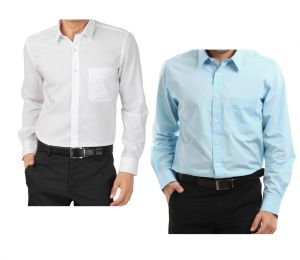 Set Of Formal White And Light Blue Shirts