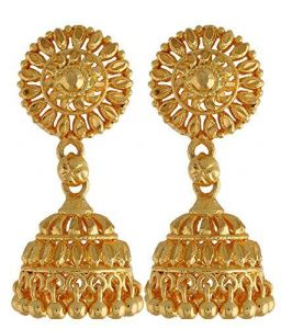 22 CRT Gold Formed Heavy Ethnic Jhumkas (earrings)