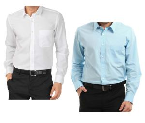 Buy White Shirt & Get Light Blue Shirt Free.....lswhlb4