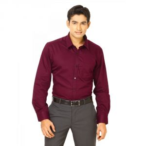 The Very Stylish Maroon Shirt With Box Packing