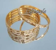 Designer Jewellery Gold Plated 4 Rhodium Bangles