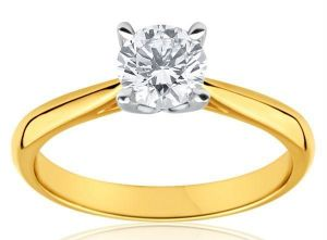 Rings (Imitation) - Hi Lifestyles18 CRT Gold Plating Pure American Diamond Ring -- Hhadrg1
