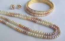 Versatile Multi Colored Fresh Water Natural Pearls Set