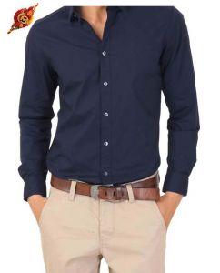 Rakhi Gifts   Apparel (for Sisters) - Rakhi Gifts....Formal Navy Blue Shirt for Men