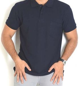 Smart Navy Blue Polo Collar T Shirt For Men.....ls55