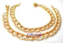 Gold Plated Jewellery Anklets (payal)