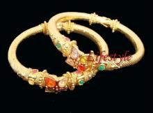 Gold Forming Jewellery Adjustable Kada Pair