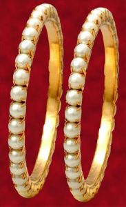 Evergreen Pearl Bangles (pair)