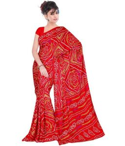 Rakhi Gifts   Apparel (for Sisters) - Rakhi Gifts....Exclusive Ethnic Bandhani Saree For Your Sister
