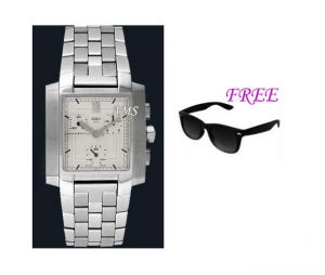 Free Sun Glasses With Stylish Watch For Men Sfgw49