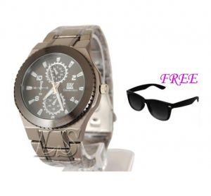 Free Sun Glasses With Stylish Watch For Men Sfgw9