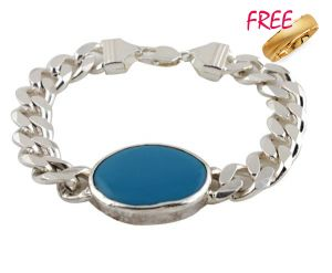Buy 1 Gold Plated Ring & Get Salman Khan Style Mens Bracelet Free