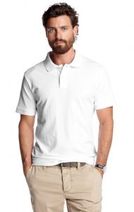 Smart White Polo Collar T Shirt For Men.....ls55