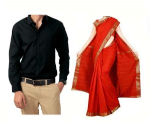 Buy One Art Silk Saree & Get Men