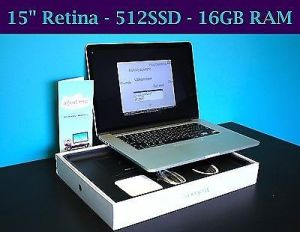 Apple Macbook Pro 15-inch Retina Core I7 2.5ghz/16gb/512gb/amd Radeon R9 M370x