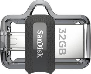 Sandisk Mobile Accessories - SanDisk 32GB Ultra Dual USB M3.0 OTG Pen Drive (SDDD3-032G-I35)