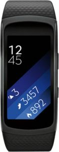 Mobile Phones & Tablets ,Laptops  - SAMSUNG Gear Fit 2 Black Smartband  (Black Strap L)