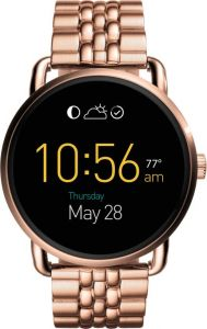 Mobile Phones, Tablets - Fossil Wander RG BraceletRose Gold Smartwatch  (Gold Strap)