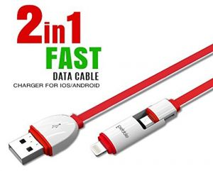 Pebble 2 In1 USB Charging Cable For Microusb And Lightning