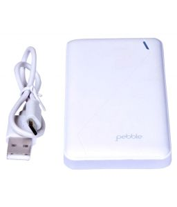 Pebble 10000mah Ppc100buc(p) Ultra Slim Polymer Power Bank White