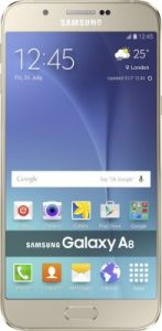 Samsung A8 Mobile Phone( Gold,32gb) With Manufacturer Warranty
