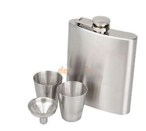 Bar Accessories - Stainless Steel Hip Flask Flagon Whiskey Wine Pot Bottle Gift