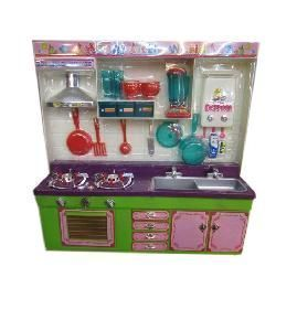 Battery Operated Toys - Girls Modular Kitchen Set Battery Operated