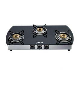 Burners - Jazel 3 Burner Cooktop Black Glass Top Toughened Glass (auto Ignition)