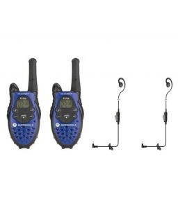 Motorola 8 Kms Walkie Talkie With Battery Charger Handsfree (pair)