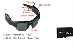 Sunglasses Video Recorder Spy Camera + 4 GB Micro SD Card