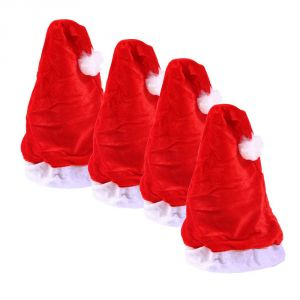 Apparels - Xmas Pack Of Four Santa Cap