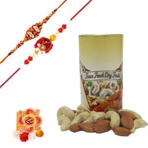Rakshabandhan Stone Rakhi With Cashew Nuts N Almonds