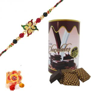 Rakshabandhan Stone Rakhi With Almonds Assorted Chocolates
