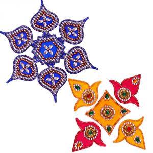 Creativity Centre Multicolor Acrylic Rangoli Set