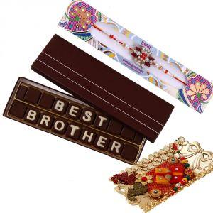 Rakhi Chocolates (India) - Rakshabandhan Best Brother Chocolate N Rakhi