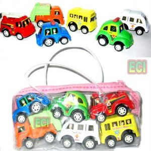 6 Vehicles Cars, Ambulance, Truck, Bus Firebrigade