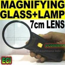 Magnifying Glasses - 7cm Lens Magnifying Glass With Target Spot Light
