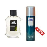 Adidas Deodorants - Free Davidoff Cool Water For Men Deodorant With Adidas Pure Game Natural Spray Edt